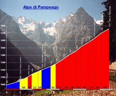 Altimetrie Alpe di Pampeago