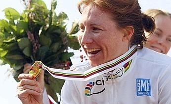 Mondiali Varese 2008: oro crono donne a Amber Neben (USA)