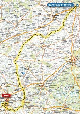 Parigi Tours 2008 mappa