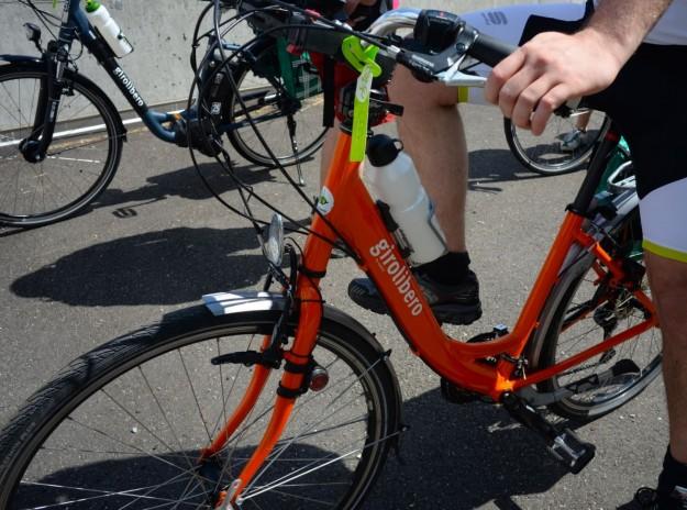 Bici arancione Girolibero