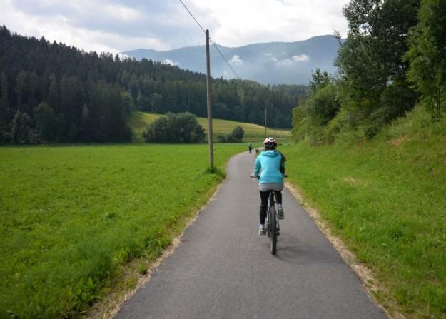 Sulla pista ciclabile secondo giorno