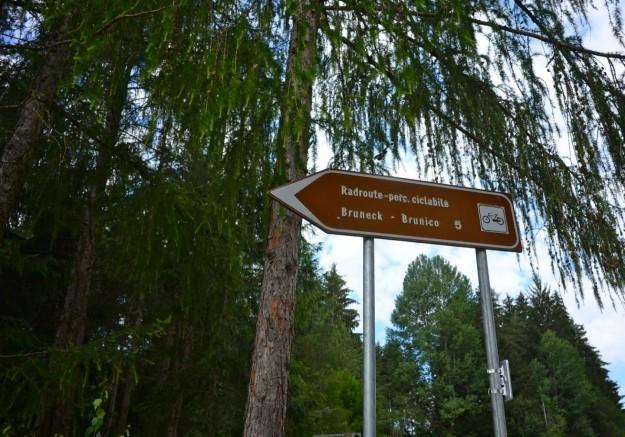 Percorso ciclabile verso Brunico